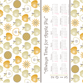 Always Time for Apple Pie - 2013 Calendar Tea Towel - Natural