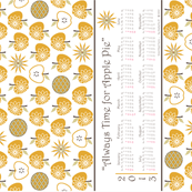 Always Time for Apple Pie - 2013 Calendar Tea Towel - Gold