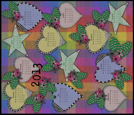 Calender Checks 2013 fabric by glanoramay on Spoonflower - custom fabric