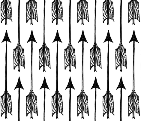 Arrows fabric by dianabrennan on Spoonflower - custom fabric