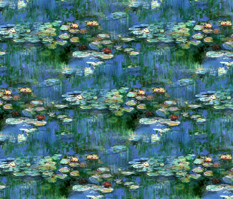 Claude Monet ~Water Lilies ~1916 ~ Large fabric by peacoquettedesigns on Spoonflower - custom fabric