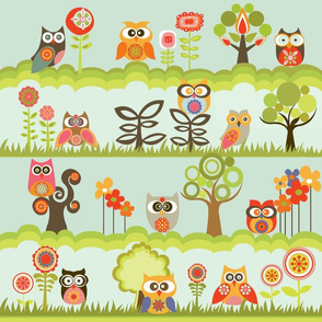 Owls in the garden