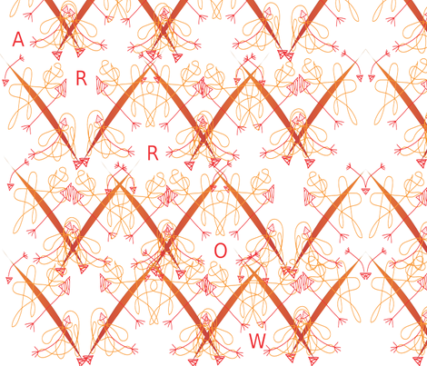 Arrows fabric by snickerslynn on Spoonflower - custom fabric