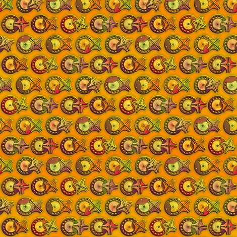 the Geneva Mechanism--gold fabric by artgarage on Spoonflower - custom fabric
