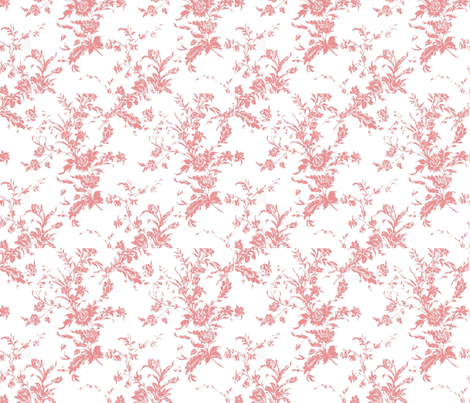 Pink Toile fabric by sandradesign on Spoonflower - custom fabric