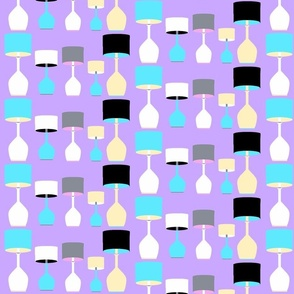 A Lot of Lamps in LavenderPale