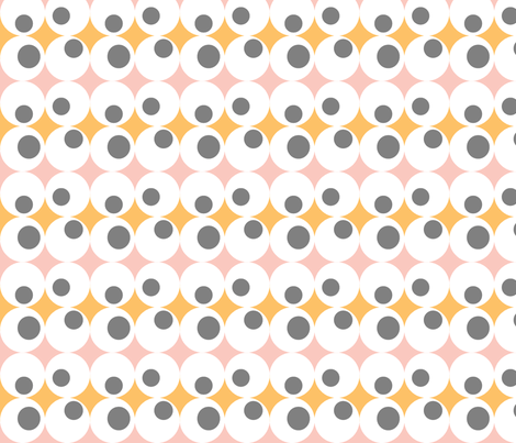 Googley Spots in PinkOrangeGrey fabric by jennysquawk on Spoonflower - custom fabric