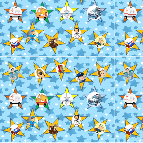 Be_my_hero_contest when I grow up fabric by ehlehnesdesigns on Spoonflower - custom fabric