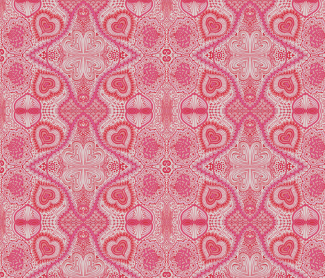 Secret Hearts fabric by katiame on Spoonflower - custom fabric