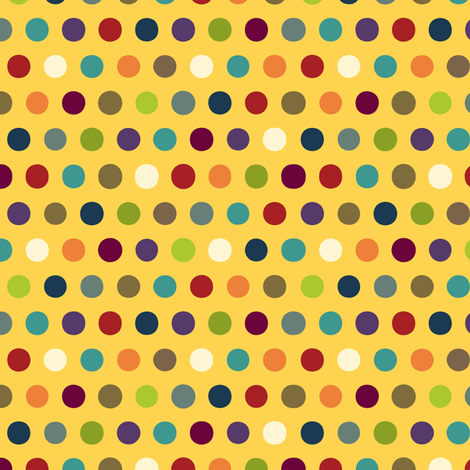 comic mini dot yellow fabric by scrummy on Spoonflower - custom fabric
