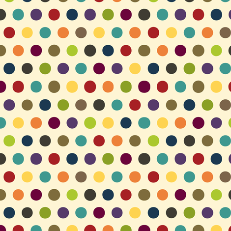 comic mini dot cream fabric by scrummy on Spoonflower - custom fabric