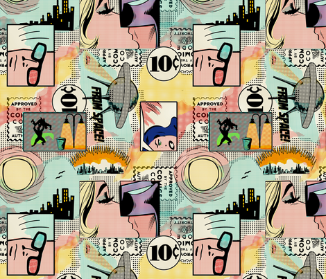 CUSTOM - Comics FMG fabric by thirdhalfstudios on Spoonflower - custom fabric