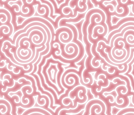 BZ Reaction - White on Pink fabric by thirdhalfstudios on Spoonflower - custom fabric