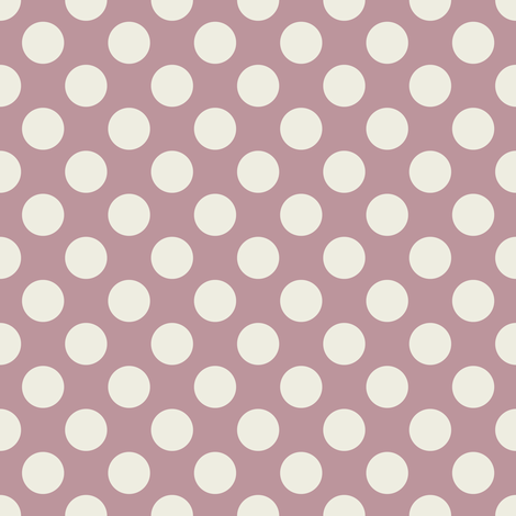 Cream Polka Dots on Mauve fabric by jumeaux on Spoonflower - custom fabric