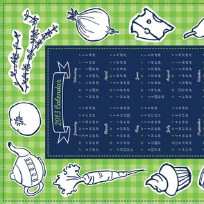 2012 Tea Towel Calendar - Canadian
