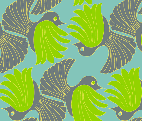 Flights of Fancy fabric by wiccked on Spoonflower - custom fabric