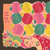 carmen tea towel calendar 2015