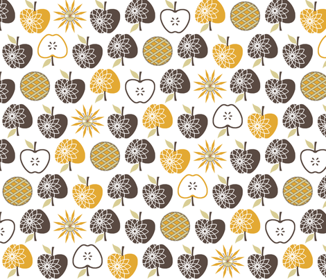 Always Time for Apple Pie - Brown fabric by inscribed_here on Spoonflower - custom fabric