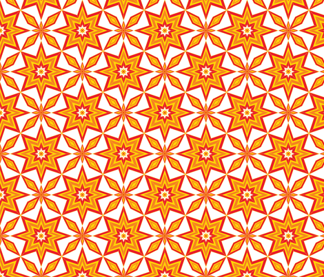 SolarBlossoms fabric by jjtrends on Spoonflower - custom fabric