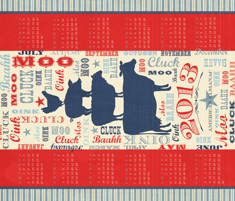 2013 American Almanac fabric by bzbdesigner on Spoonflower - custom fabric