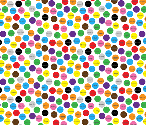 What I wish for you - spots (US) fabric by greennote on Spoonflower - custom fabric
