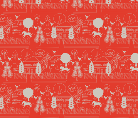 No. 46 McAlister St fabric by leeandallandesign on Spoonflower - custom fabric