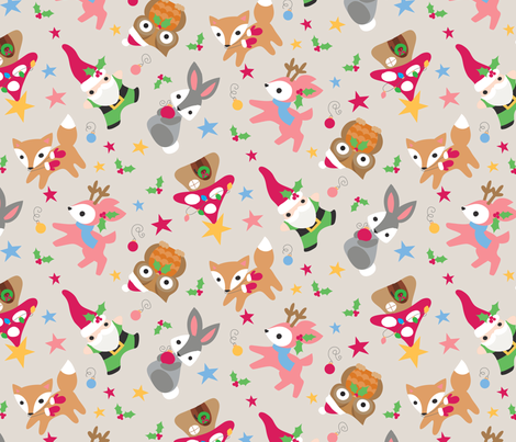 Woodland Wonderland Taupe fabric by urban_threads on Spoonflower - custom fabric