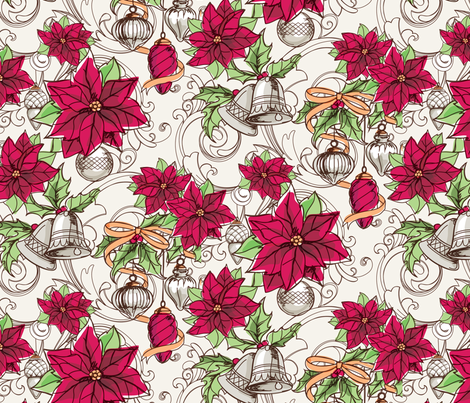 Yuletide Vintage fabric by urban_threads on Spoonflower - custom fabric