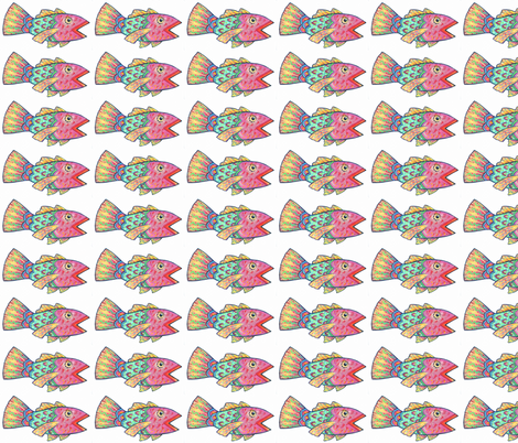 Singing Rainbow Fish fabric by katy_bratun on Spoonflower - custom fabric