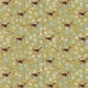 Morris' Hound on floral