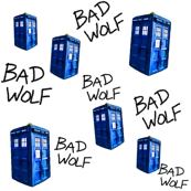 Doctor Who Inspired BAD WOLF TARDIS 
