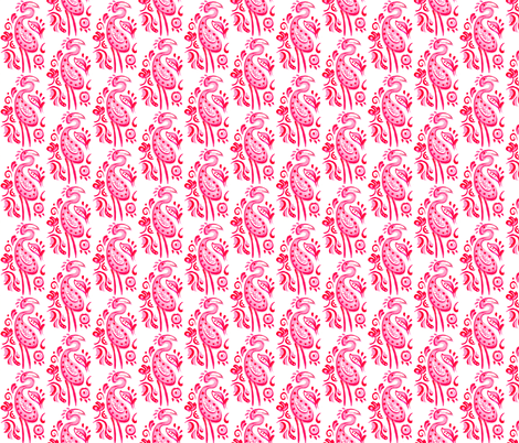 Hot Pink Paisley Flamingo fabric by katy_bratun on Spoonflower - custom fabric