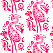 Hot Pink Paisley Flamingo