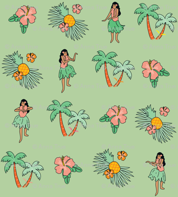 hula girls