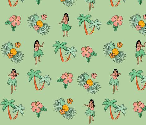 hula girls fabric by annaboo on Spoonflower - custom fabric