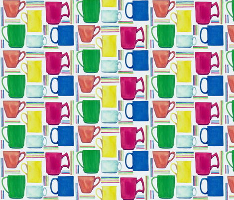 Mugs! fabric by wethree3 on Spoonflower - custom fabric