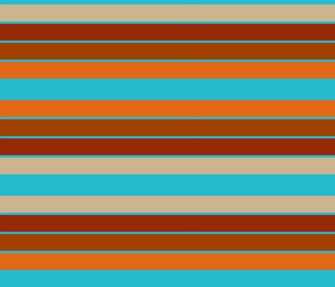 Cinco Stripe-Turquise & tobasco fabric by designertre on Spoonflower - custom fabric