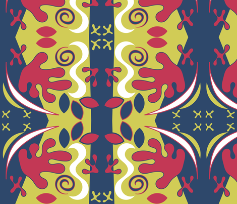 Floral Matisse fabric by ninjaauntsdesigns on Spoonflower - custom fabric