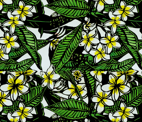 Frangipani Print for Scarf. copyright 2012 seasparkles