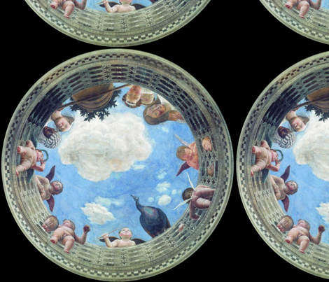 Andrea Mantegna Camera degli Sposi fabric by peacoquettedesigns on Spoonflower - custom fabric
