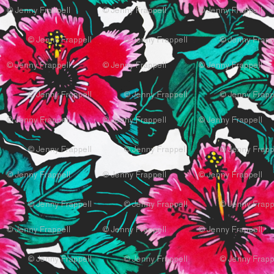 Hibiscus Print for Bag, copyright 2012 seasparkles