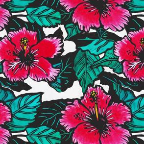 Hibiscus Print for Bag (c)indigodaze2012