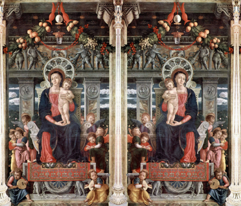 Andrea Mantegna ~ Virgin Mary fabric by peacoquettedesigns on Spoonflower - custom fabric