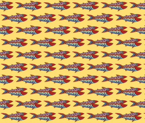 Design Fish fabric by katy_bratun on Spoonflower - custom fabric