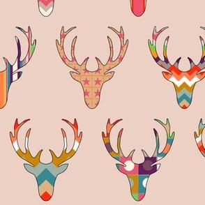 retro deer head blush