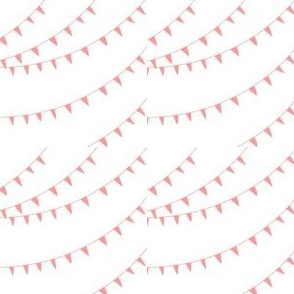 Coral Bunting Flag