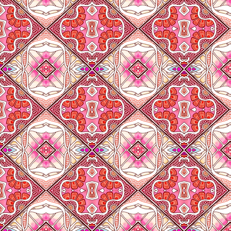 Argyle Flower fabric by edsel2084 on Spoonflower - custom fabric