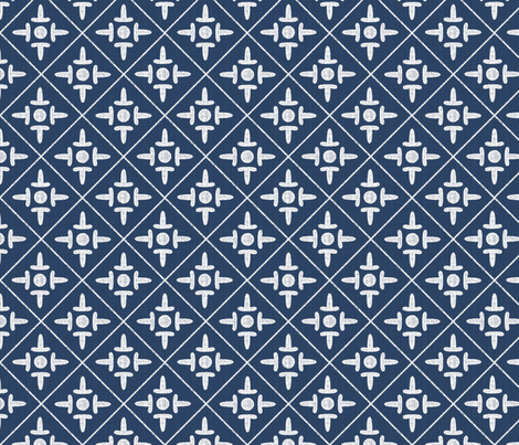 colonial_cross_chesapeake fabric by glimmericks on Spoonflower - custom fabric