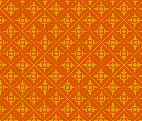colonial_cross sungold fabric by glimmericks on Spoonflower - custom fabric