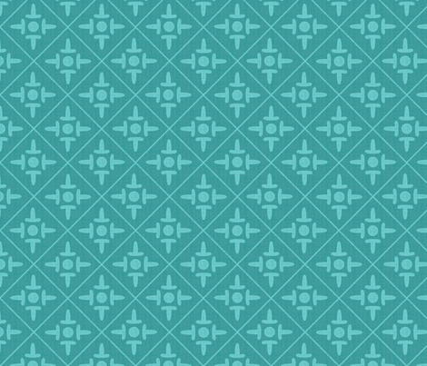 colonial cross bali seafoam fabric by glimmericks on Spoonflower - custom fabric